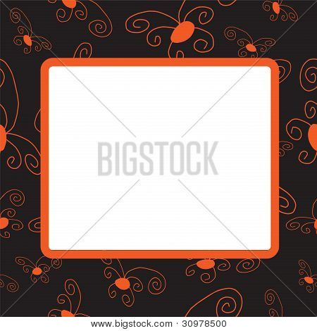 Darkenning Frame With Orange Elements