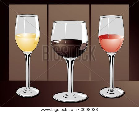 3 Vasos de Wine.Eps