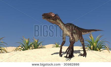 utahraptor in desert