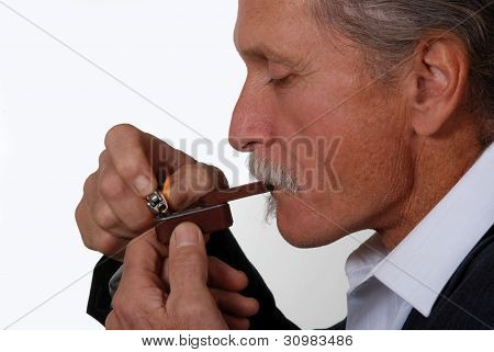 Man Smoking Marijuana Pipe