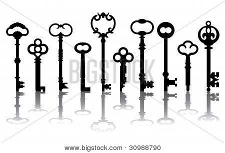 Skeleton Key Icons