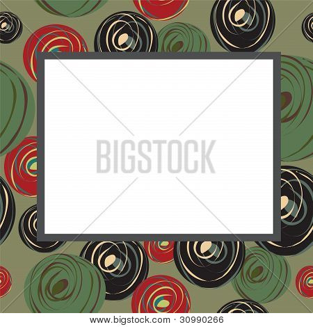 Sulfuric Frame With Abstract Circles