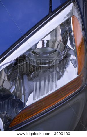 Car Headlight Detail