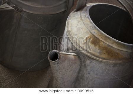 Weathered Watering Cans