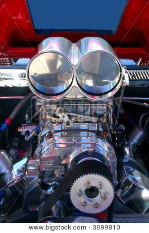 Supercharger On A Custom Car