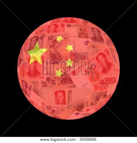 Chinese Flag Currency Button