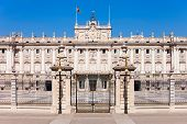 The Royal Palace Of Madrid Or Palacio Real De Madrid Is The Official Residence Of The Spanish Royal  poster