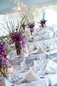 picture of banquet  - wedding tables set for fine dining at an event - JPG