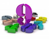 Number Nine In The Middle Of Numbers. 3d Colorful Numbers Lying On White Background With The Number  poster