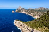 Cap De Formentor - Famous Nature Landmark With Amazing Rocky Coastline On Mallorca, Spain, Mediterra poster