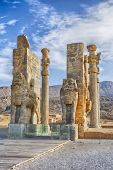 The Majestic Gate Of All Nation, Persepolis. Iran Is The Capital Of The Achaemenids. The Ancient Cit poster