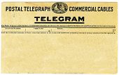 image of telegram  - Antique postal telegram with copy space for your own message - JPG