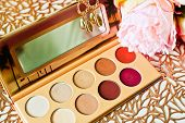 Beautiful Colorful Eyeshadow Palette. Make-up. Beauty Products. Tool For Makeup Artist. Decorative C poster