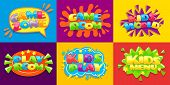 Game Room Posters. Fun Kids Playroom, Games Playing Zone For Young Kid And Kids Menu. Hobby Play Roo poster