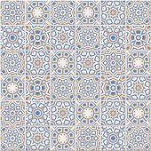 Portuguese Floor Tiles Design, Seamless Azulejo Pattern poster
