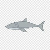 Shark Icon. Cartoon Illustration Of Shark Vector Icon For Web poster