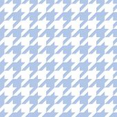 Hounds Tooth Seamless Blue Vector Pattern. Tweed Fashion Tile Background With Retro Tartan Woven For poster