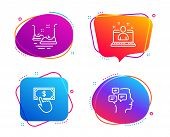 Best Manager, Payment Click And Bumper Cars Icons Simple Set. Messages Sign. Best Developer, Financi poster
