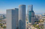 Tel Aviv Skyline, Tel Aviv Skyscrapers, Cityscape At Day, Israel poster