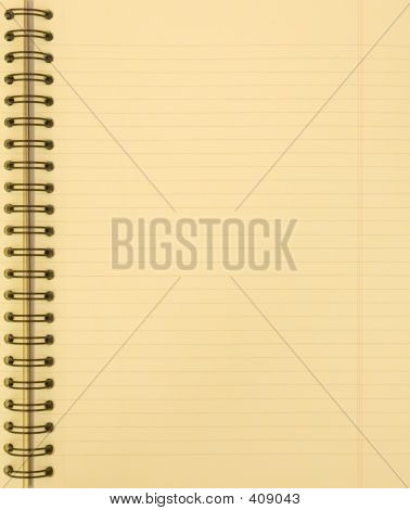 Blank Yellow Notebook