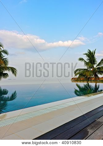 Swimming Pool In A Tropical Hotel