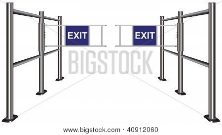 Turnstile Pointing Exit