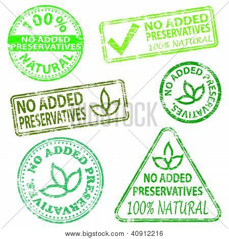 No Added Preservatives Stamps