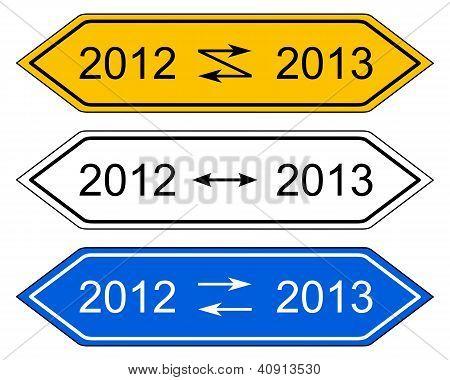 Richtungszeichen Drehen des Jahres