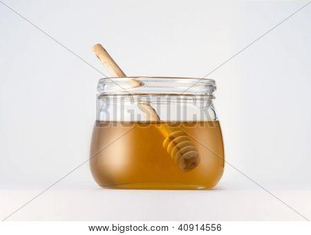 Honey jar and honey comb