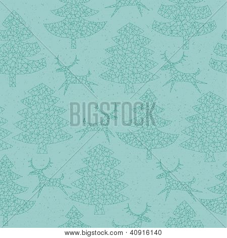 Christmas Trees Forest Pattern