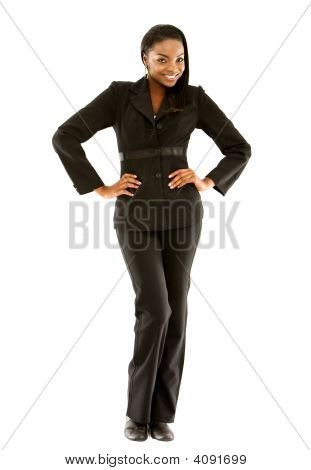 Business Woman Standing Up