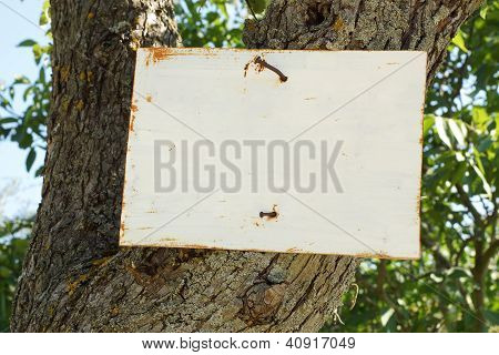 Rustic Rural Sign, Blanked For Your Message