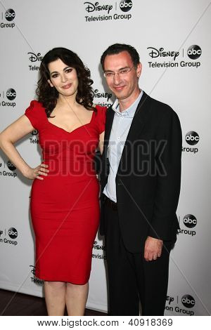 LOS ANGELES - JAN 10:  Nigella Lawson, Paul Lee attends the ABC TCA Winter 2013 Party at Langham Huntington Hotel on January 10, 2013 in Pasadena, CA