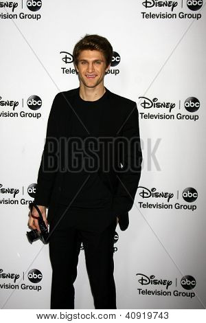 LOS ANGELES - JAN 10:  Keegan Allen attends the ABC TCA Winter 2013 Party at Langham Huntington Hotel on January 10, 2013 in Pasadena, CA