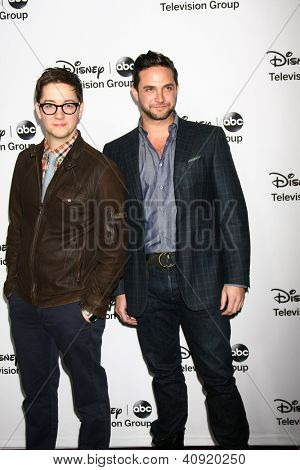 LOS ANGELES - JAN 10:  Bradford Anderson, Brandon Barash attends the ABC TCA Winter 2013 Party at Langham Huntington Hotel on January 10, 2013 in Pasadena, CA