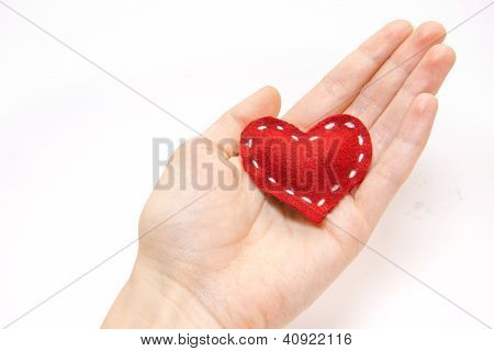 Red Heart In Hand