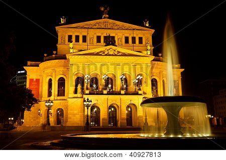 Alte Oper In Frankfurt, Germany