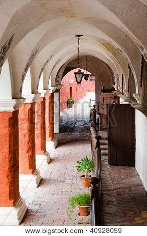 Colonnade In Santa Catalina Monastery, Arequipa, Peru