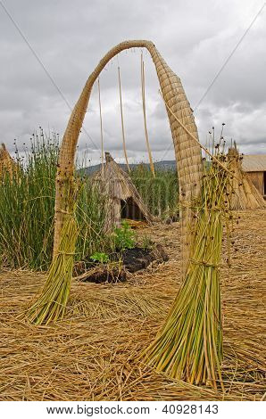 Arch On The Floating Islands Of The Uros, Lake Titikaka, Peru