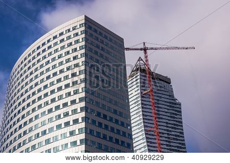 Modern office buildings in Warsaw downtown
