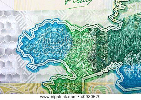 Fragment Of Kazakh Banknote