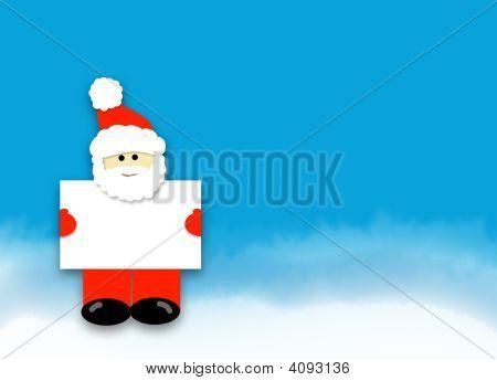 Santa Holding Sign