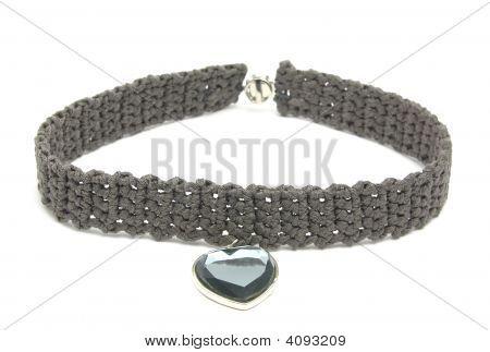 Handarbeit Gehäkelte Halsband mit Anhänger des Herzens