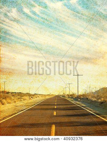 Grungy Desert Road
