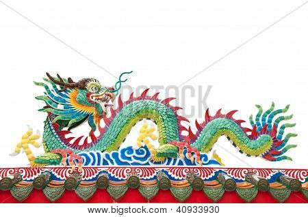 The Colorful Dragon Made From Ceramic Tail