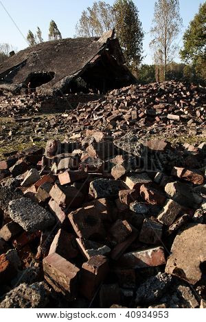 Ruins Of The Crematoria And Gas Chambers, Auschwitz