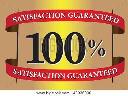 Satisfação garantida etiqueta