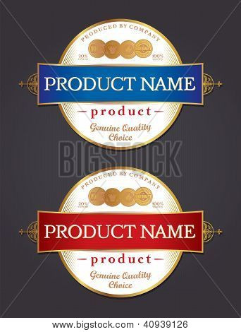 Label Design Template Vector
