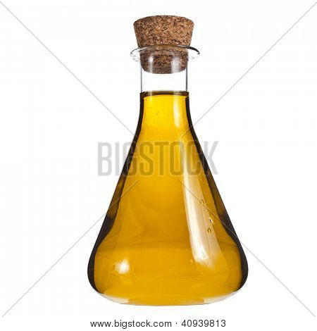 oil bottle isolated on white background