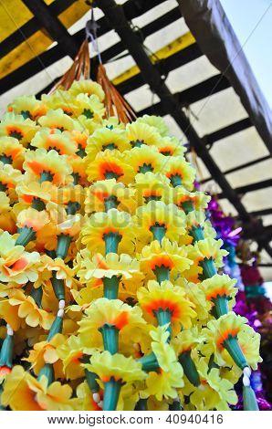 Plastic Marigold Flower